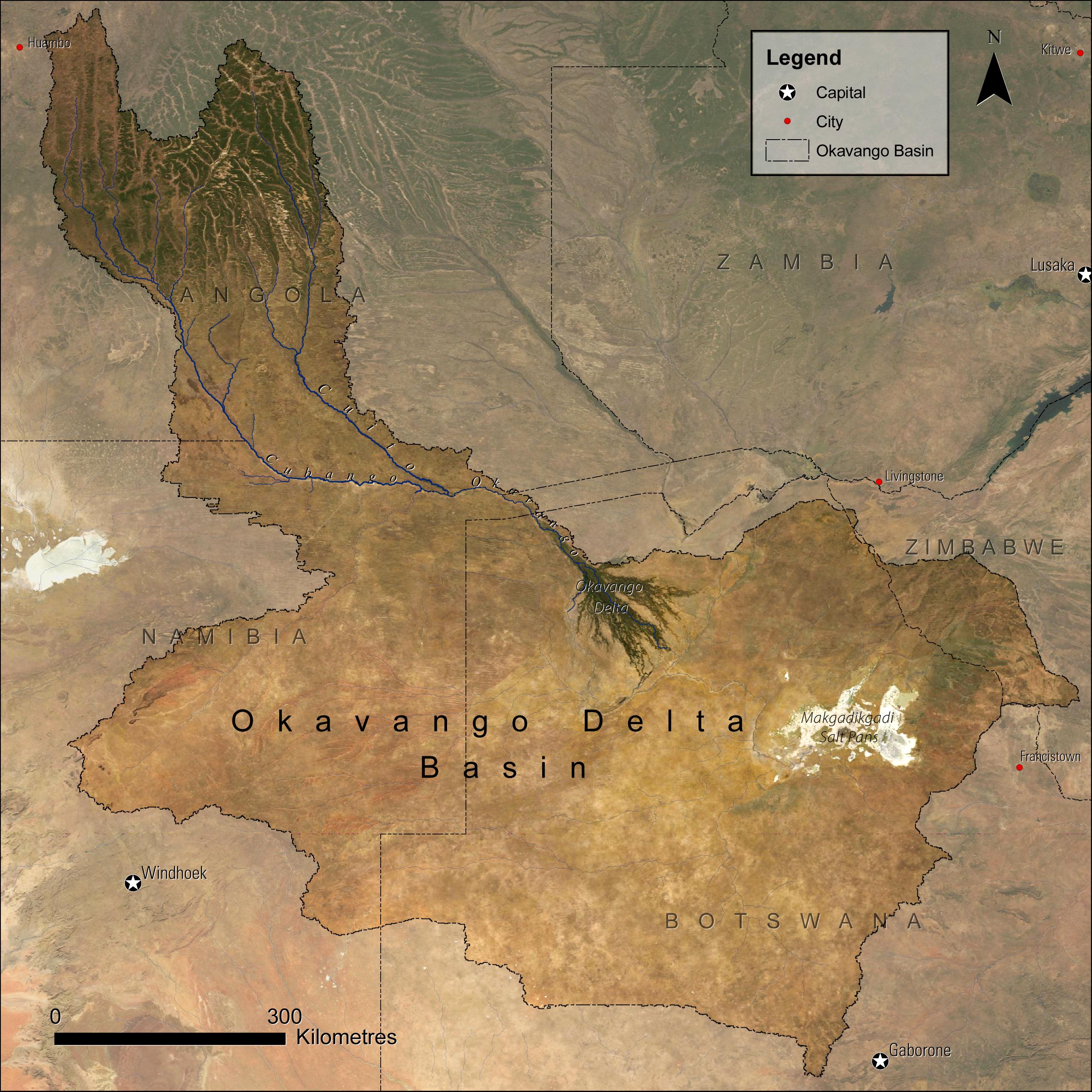 UNEP/GRID-Sioux Falls Okavango Basin Map
