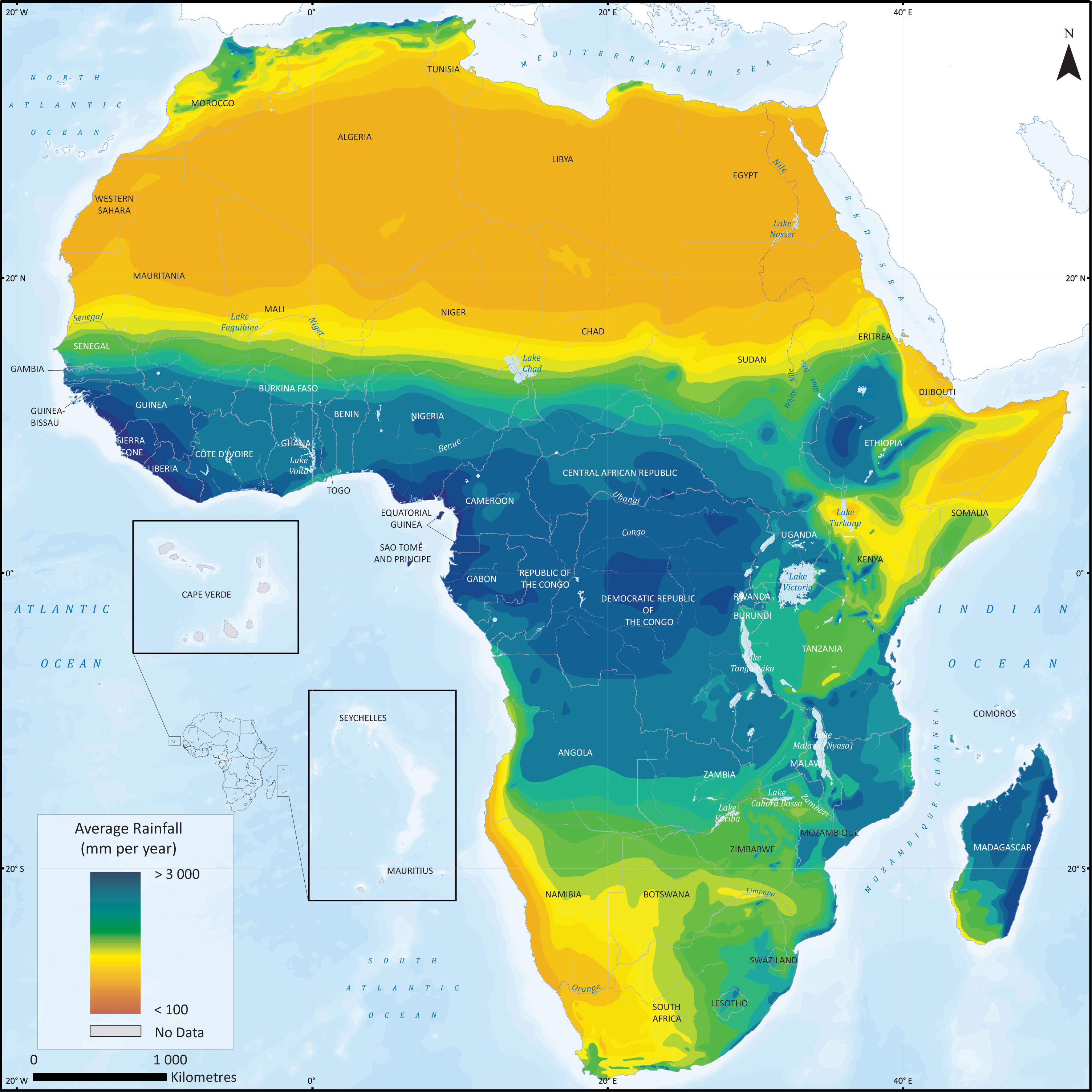 Water Pollution In Africa Map