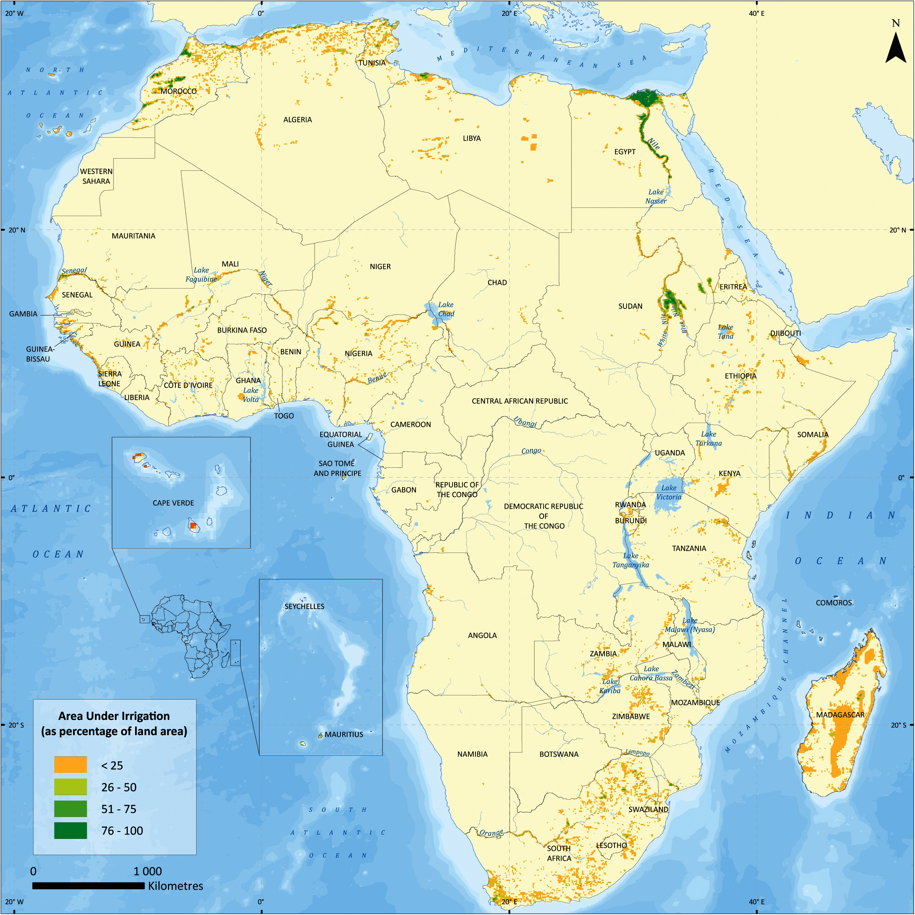 Lake Volta Africa Map.Africa Water Atlas Article
