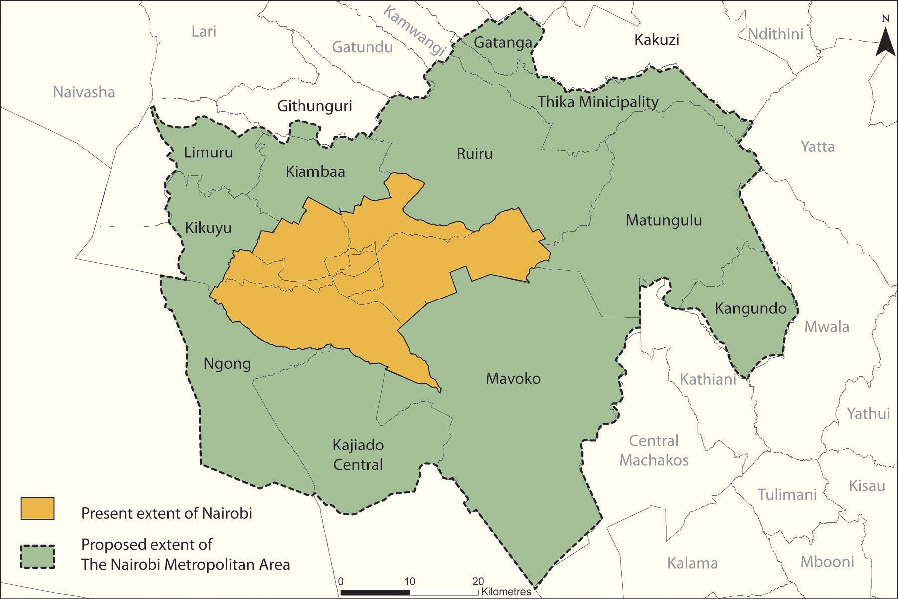 UNEPGRIDSioux Falls - nairobi map